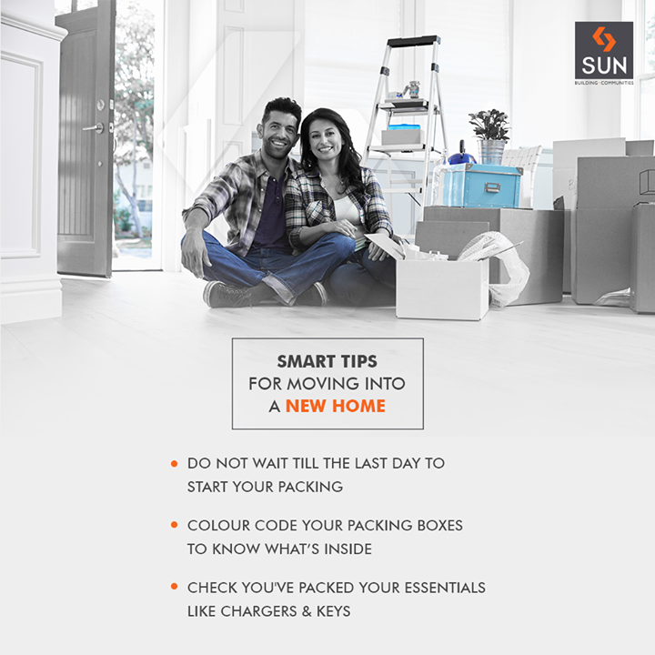 Moving into a new home makes easier with our smart tips   #SunBuildersGroup #RealEstate #SunBuilders #Ahmedabad #Gujarat