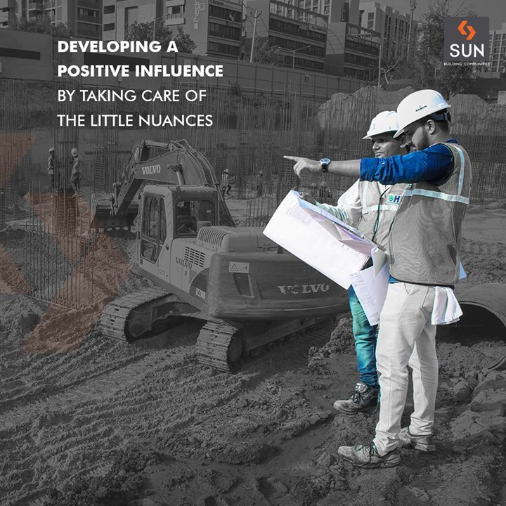 Our project engineers are thoughtful during the process of building new projects by delegating attention to little nuances!    #SunBuildersGroup #RealEstate #SunBuilders #Ahmedabad #Gujarat