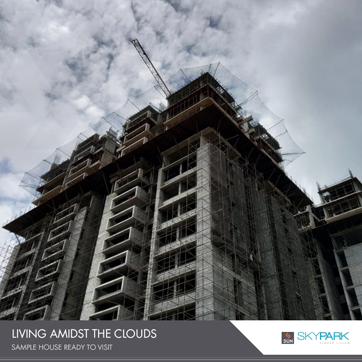 When the clouds pay us a visit at #SkyPark!   #SunSkyPark #SunBuildersGroup #RealEstate #SunBuilders #Ahmedabad #Gujarat