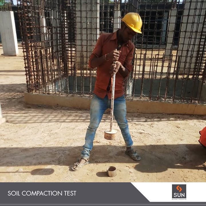 We at Sun Builders Group Carry out Regular soil compaction tests at our sites for better strength and a strong structure!  #SunBuildersGroup #RealEstate #SunBuilders #Ahmedabad #Gujarat