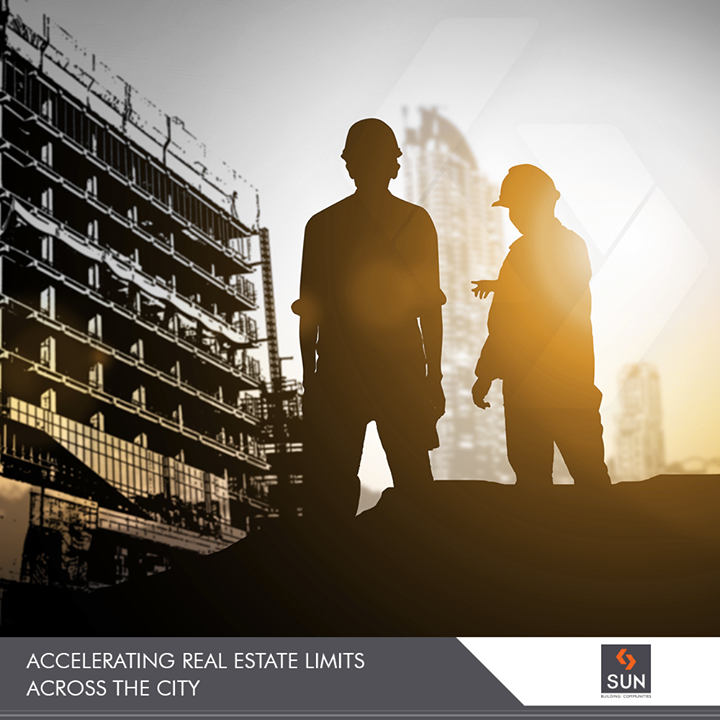 "Building ""buildings"" that write your success stories!   #SunBuildersGroup #RealEstate #SunBuilders #Ahmedabad #Gujarat"