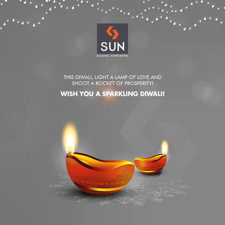 This Diwali, light a lamp of love & shoot a rocket of prosperity! Wish you a sparkling Diwali!   #HappyDiwali #IndianFestivals #Celebration #Diwali #Diwali2018 #FestivalOfLight #DiwaliIsHere #FestivalOfJoy #SunBuildersGroup #RealEstate #SunBuilders #Ahmedabad #Gujarat