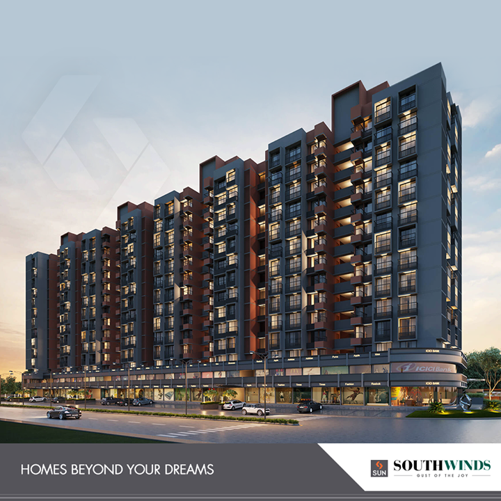 At South Winds, we believe in building the homes that are beyond your dreams!    #SunBuildersGroup #RealEstate #SunBuilders #Ahmedabad #Gujarat