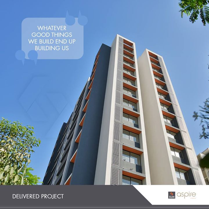 We take pride in our state-of-the-art delivered projects!   #SunBuildersGroup #RealEstate #SunBuilders #Ahmedabad #Gujarat #DeliveredProjects #SunAspire