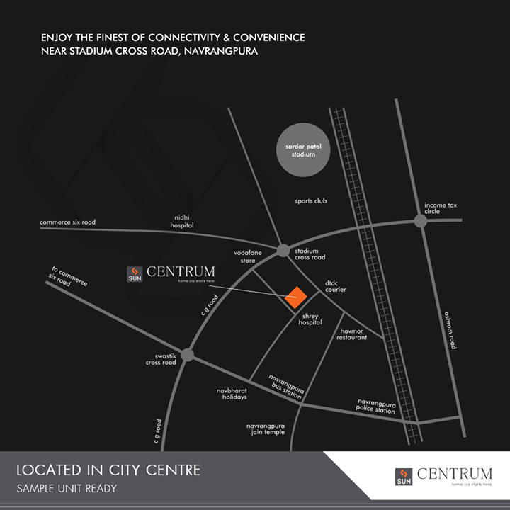 Promising the finest of connectivity & convenience at #SunCentrum!   #RealEstate #RealEstateGujarat #SunBuildersGroup #Gujarat #India #SampleUnitReady