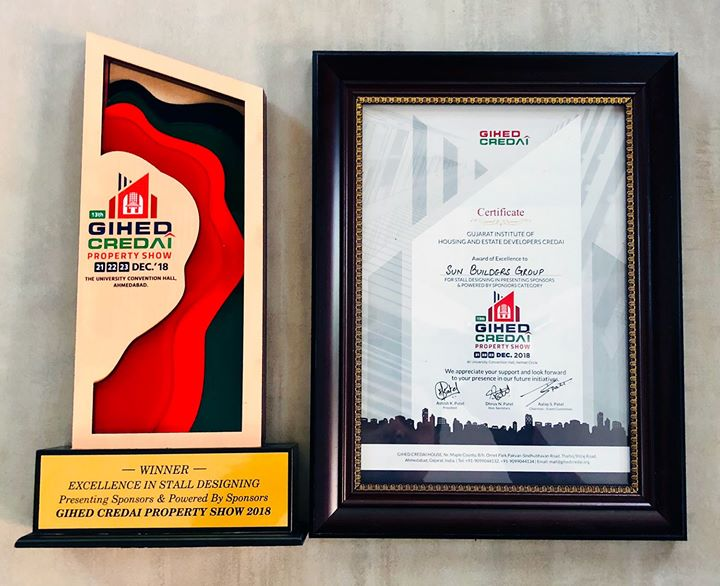 We are overwhelmed with the optimistic response over the weekend at the GIHED Credai Property Show 2018.   Thank you everyone, who visited our stall and to the GIHED community to grace us with 2awards for