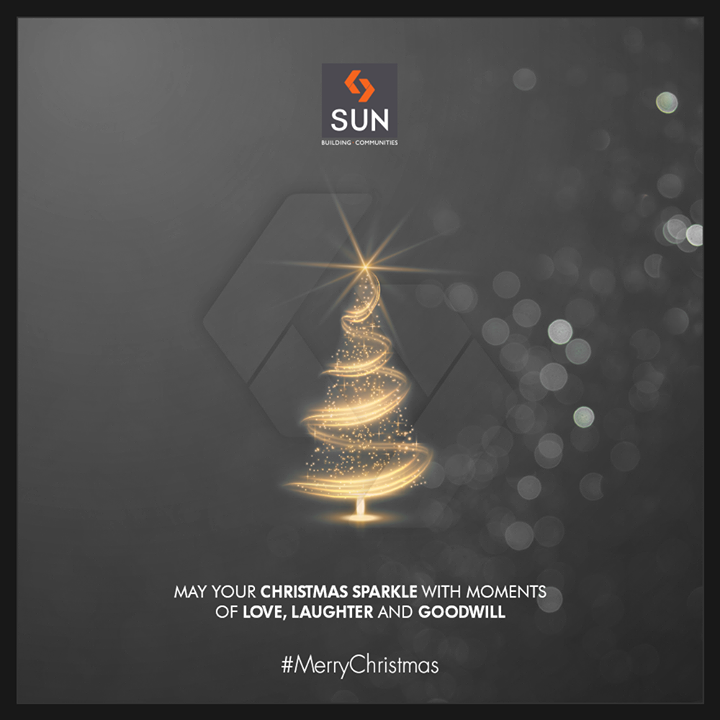 May your Christmas sparkle with moments of love, laughter & goodwill!  #Christmas #MerryChristmas #Christmas2018 #Celebration #SunBuildersGroup #RealEstate #SunBuilders #Ahmedabad #Gujarat