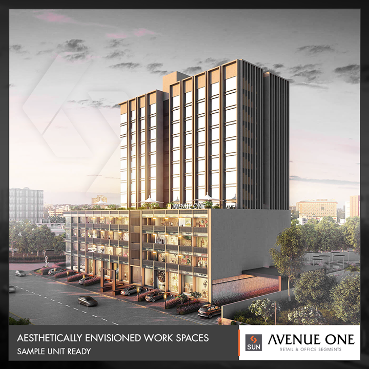 #AvenueOne speaks for aesthetically envisioned workspaces for the true expression of next-generation entrepreneurs!    #SunBuildersGroup #RealEstate #SunBuilders #Ahmedabad #Gujarat