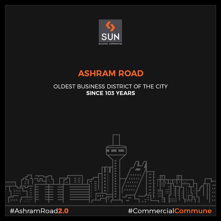 #AshramRoad - thriving the business spirit of Amdavad since 103 years!  #SunBuilders #RealEstate #Ahmedabad #Gujarat #SunBuildersGroup #AshramRoad2point0 #commercialcommune #ComingSoon #NewProject