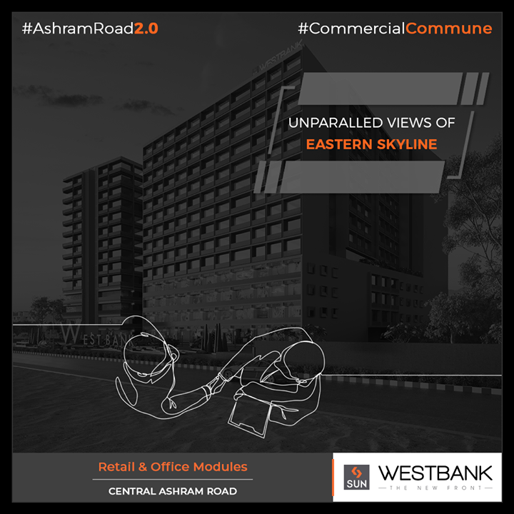 A vibrant location leveraging the benchmark of urban development!   #SunBuilders #RealEstate #WestBank #SunWestBank #Ahmedabad #Gujarat #SunBuildersGroup #AshramRoad2point0 #commercialcommune #ComingSoon #NewProject