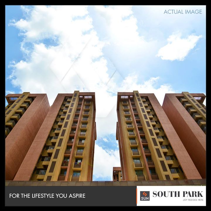 Homes that ensure being a gateway to majestic views!  #SouthPark #SunSouthPark #SunBuilders #RealEstate #Ahmedabad #RealEstateGujarat #Gujarat