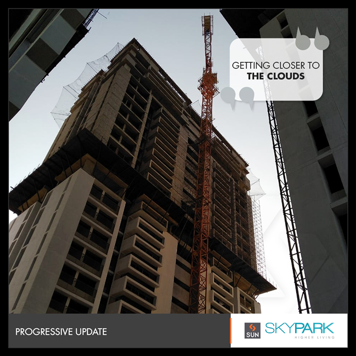 A new perspective to city living is getting shaped up!   #SkyPark #SunBuilders #RealEstate #HigherLiving