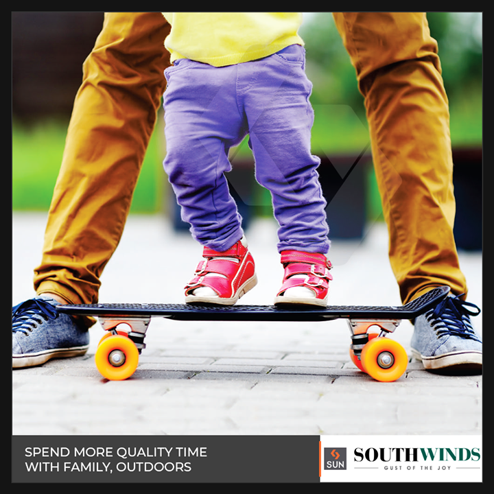 Let the green landscapes at South winds become your new playground to cherish the family bond!  #SunBuildersGroup #RealEstate #Gujarat #Ahmedabad #SouthWinds