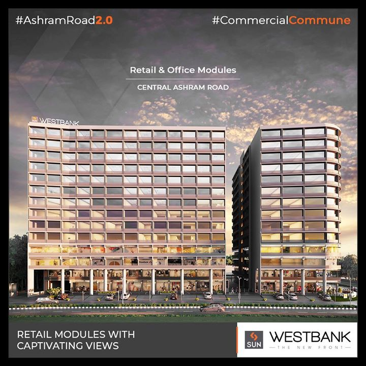 Westbank ensure the best captivating views!  #SunBuilders #RealEstate #SunWestBank #Ahmedabad #Gujarat #SunBuildersGroup #AshramRoad2point0 #commercialcommune #ComingSoon #NewProject