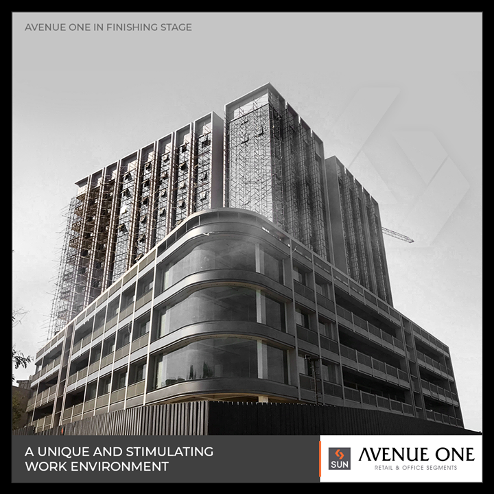 The most productive entrepreneurial space #AvenueOne enters its finishing stage!  #SunBuilders #RealEstate #Ahmedabad #RealEstateGujarat #Gujarat