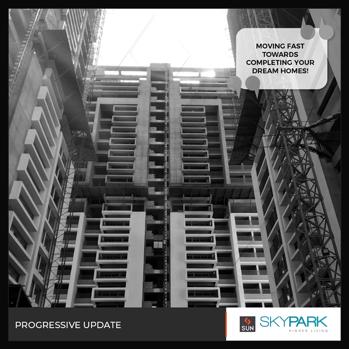 Progressively shaping your dream homes at #SunSkypark.  #Skypark #Residences #RealEstateGujarat #SunBuildersGroup #Ahmedabad #RealEstate #Gujarat #OnsiteUpdate