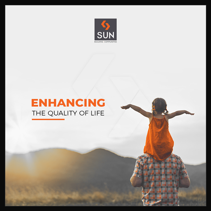 Our emphasis always lays on enhancing the quality of life & achieving excellence in service, innovation & customer needs!  #SunBuilders #RealEstate #Ahmedabad #RealEstateGujarat #Gujarat