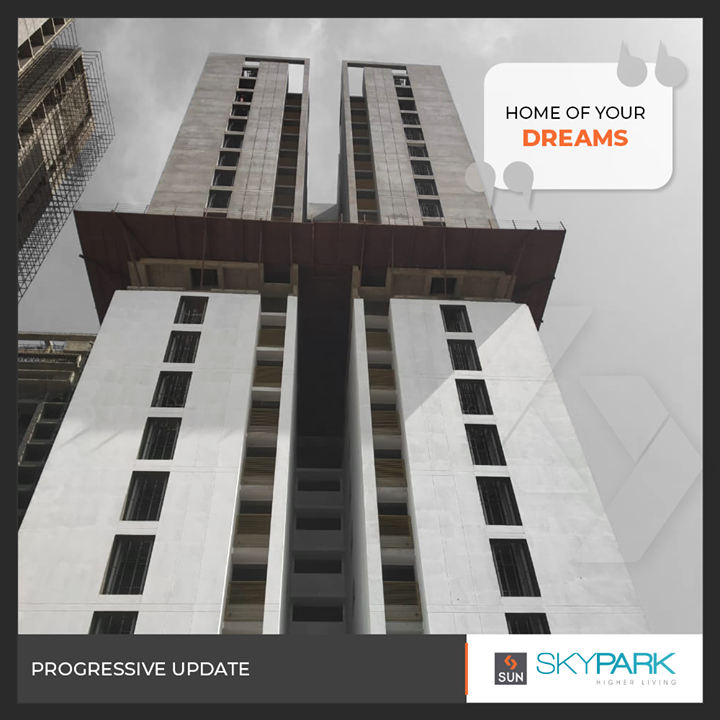Exquisitely designed residences exuding elegance & luxury progressing towards timely completion.  #SunBuilders #RealEstate #Ahmedabad #RealEstateGujarat #Gujarat #SunSkyPark