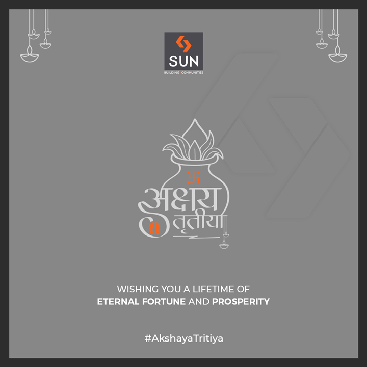 Wishing you a lifetime of eternal fortune and prosperity.  #AkshayaTritiya #SunBuilders #RealEstate #Ahmedabad #RealEstateGujarat #Gujarat