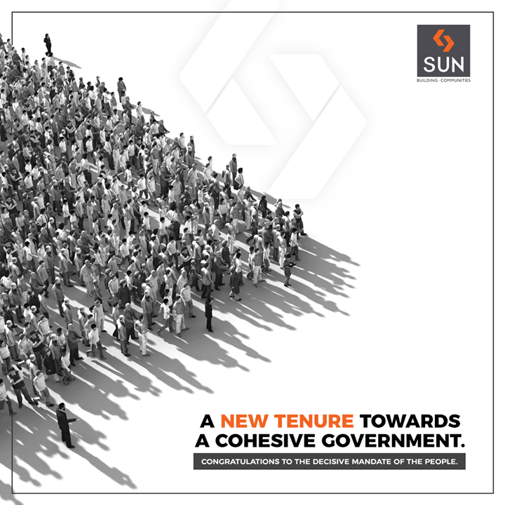 Congratulations to the decisive mandate of the people.  #SunBuilders #RealEstate #ProgressiveSpaces #Ahmedabad #Gujarat