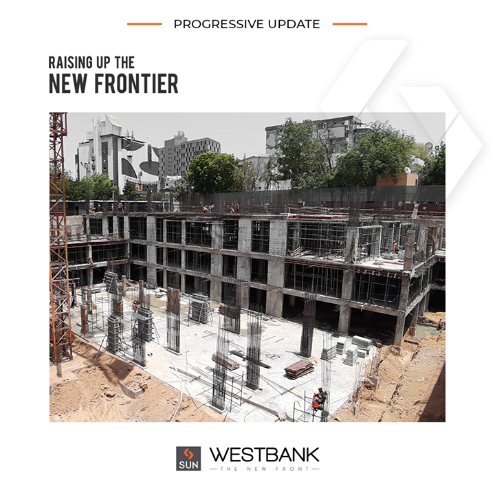 Progressive update of the new frontier Sun West Bank at Ashram Road 2.0!  #SunBuilders #RealEstate #ProgressiveSpaces #Ahmedabad #Gujarat #SunWestBank #AshramRoad2point0