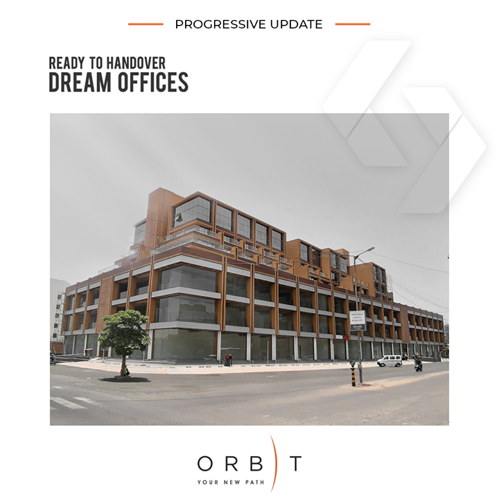 The new generation offices, ready to be handed over!  #ProgressiveUpdate #SunBuilders #RealEstate #ProgressiveSpaces #Ahmedabad #Gujarat #Orbit