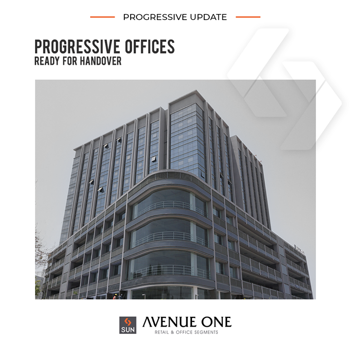 Standing tall at a promising location, #AvenueOne at Manekbaug is ready for handover.   #ProgressiveUpdate #SunBuilders #RealEstate #ProgressiveSpaces #Ahmedabad #Gujarat