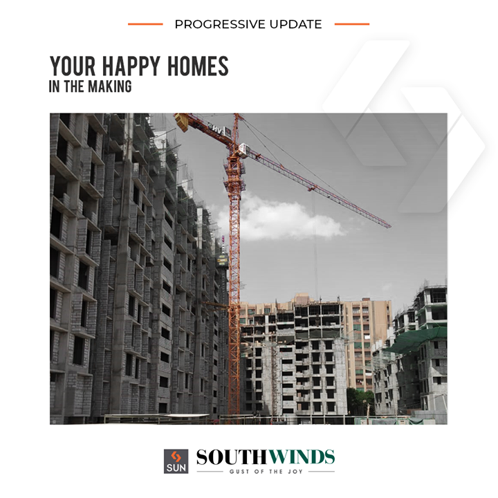 Shaping up your happy homes at #SunSouthwinds.   #ProgressiveUpdate #SunBuilders #RealEstate #ProgressiveSpaces #Ahmedabad #Gujarat