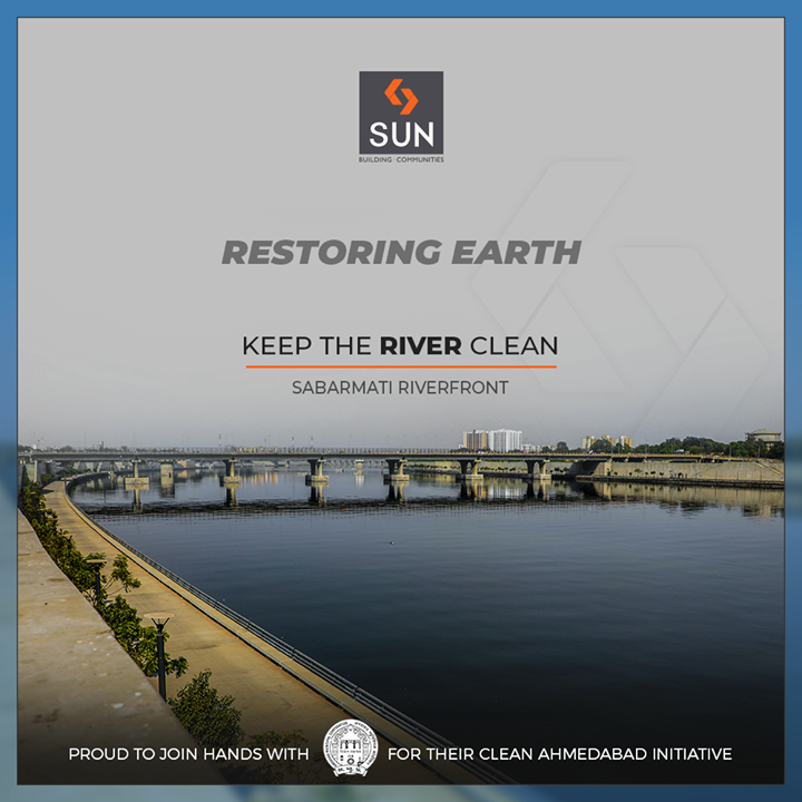 A small step today can reap big effects tomorrow! Let's do our bit to keep the river clean, proud to join hands with the AMC-Amdavad Municipal Corporation for their Swachh Sabarmati Mahaabhiyan towards beautifying the Sabarmati Riverfront!      #SunCares #EnvironmentDay #SunBuildersGroup #Ahmedabad #Gujarat