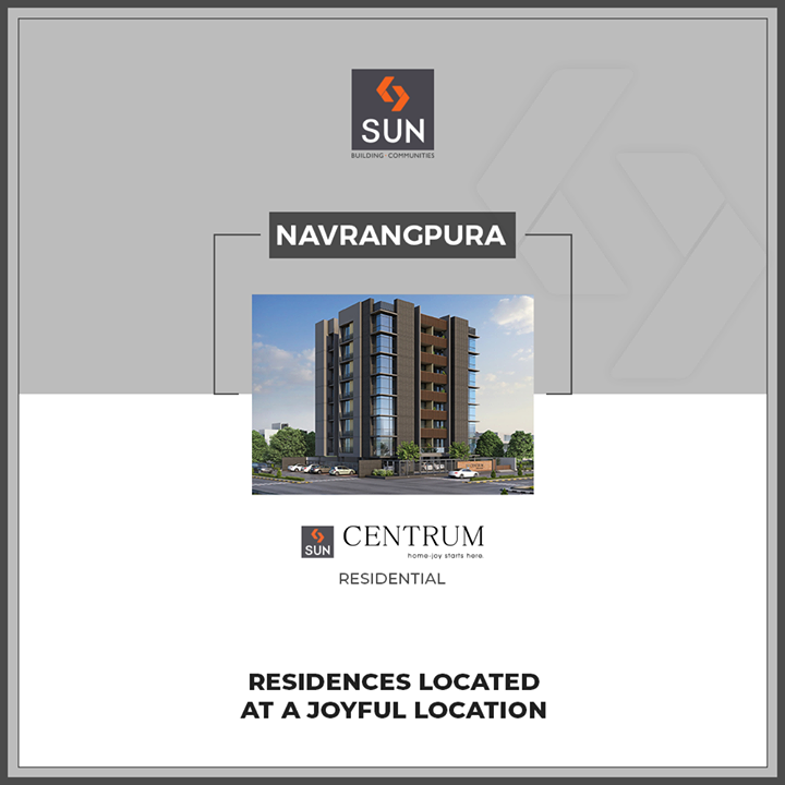 #QuantumOfSun   While designing projects, we keep in mind the importance of location. Sun Centrum located at the joyful location of #Navrangpura, a hustling location popular amidst a large community closely connected to the #RiverfrontWalkway.   #SunBuildersGroup #Ahmedabad #Gujarat #RealEstate