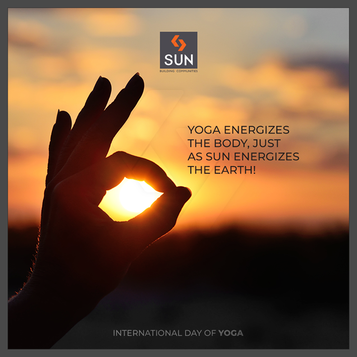 Energize your body with Y O G A!   #SunBuildersGroup #Ahmedabad #Gujarat #YogaDay #InternationalYogaDay #Yoga