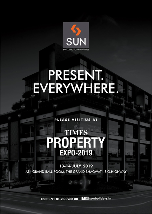 Visit us at the Times Property Expo-2019 this weekend at the Grand Ball Room, The Grand Bhagwati!   #TimesPropertyExpo #TimesPropertyExpo2019 #SunBuildersGroup #Ahmedabad #Gujarat