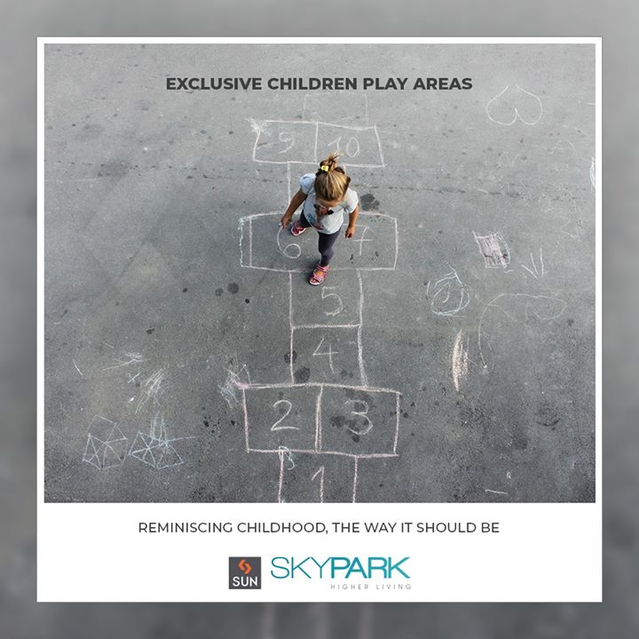 #SunSkypark features #childrenplayareas that allow reminiscence childhood the way it should be!   #SunBuildersGroup #Ahmedabad #Gujarat #Residences #ResidentialSpaces