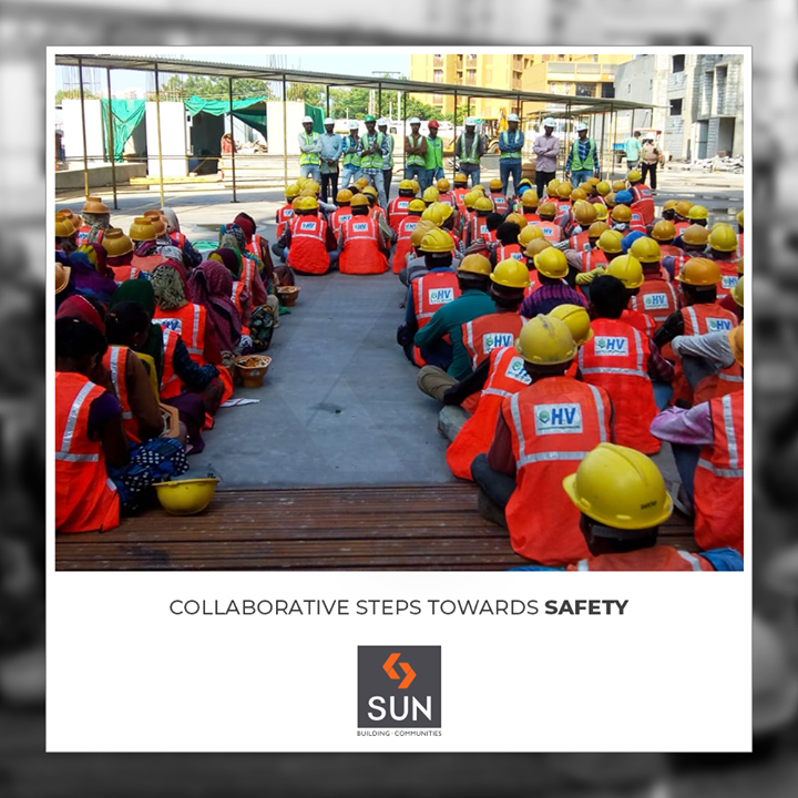 Timely safety session ensure in maintaining collaborative safety standards for our laborers!   #SafetySession #Safety #SunBuildersGroup #RealEstate #Ahmedabad #Gujarat