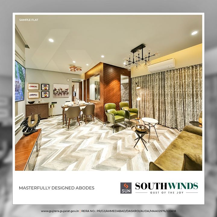 #SunSouthWinds offers you abodes that are thoughtfully crafted to let you weave happy moments!   #SunBuildersGroup #Ahmedabad #Gujarat #RealEstate