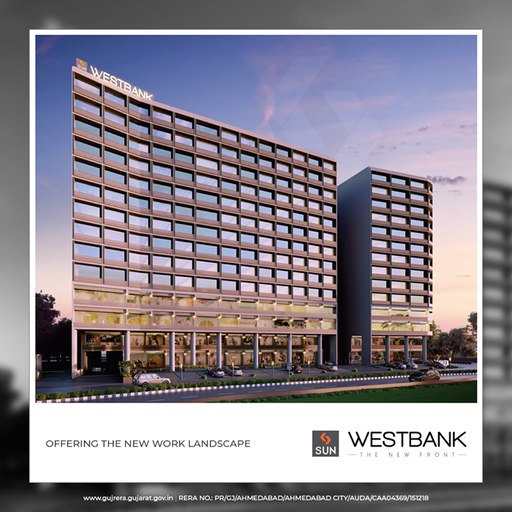 #SunWestBank promises to offer you the new work landscapes at #AshramRoad2point0!  #SunBuildersGroup #Ahmedabad #Gujarat #RealEstate #SunBuilders