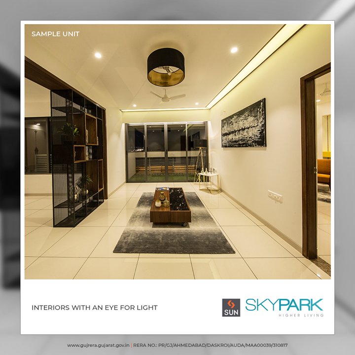 #SunSkyPark offers you spacious interiors with an eye for the light!     #SunBuildersGroup #Ahmedabad #Gujarat #RealEstate #SunBuilders