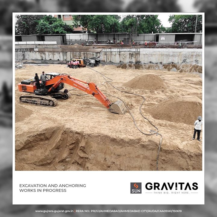 Fast pacing constructing of your dream offices, excavation & anchoring work in progress!  #SunGravitas #SunBuildersGroup #Ahmedabad #Gujarat #RealEstate #ConstructionUpdate #OnsiteUpdate