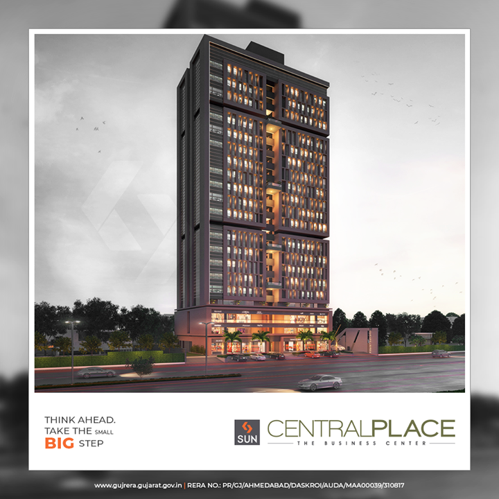 #SunCentralPlace is a business centre that offers you everything that lets you focus on your vision & goals!  #SunBuildersGroup #Ahmedabad #Gujarat #RealEstate