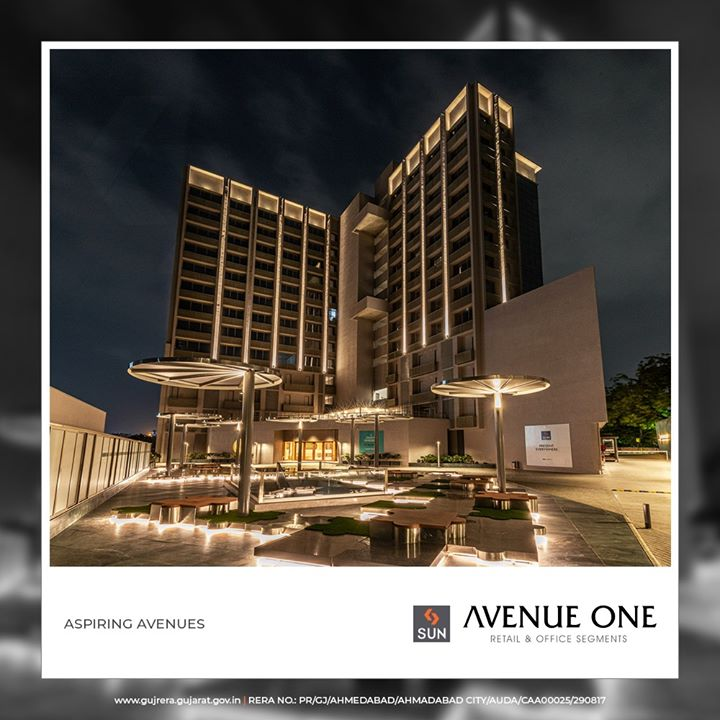 #SunAvenueOne stands tall in all its glory at the rewarding location of Manekbaug!  #SunBuildersGroup #Ahmedabad #Gujarat #RealEstate #SunBuilders