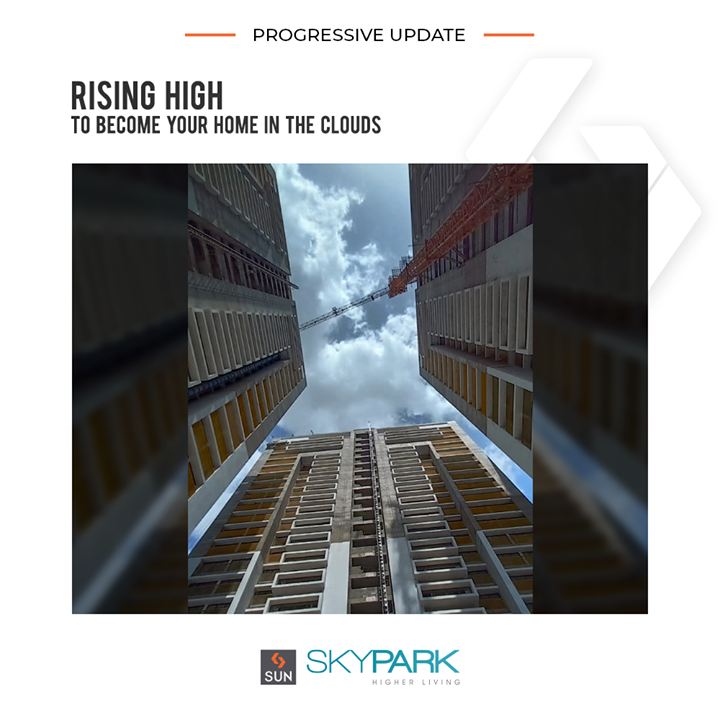 #SunSkyPark is escalating to become your home in the clouds!  #SunBuildersGroup #Ahmedabad #Gujarat #RealEstate #SunBuilders