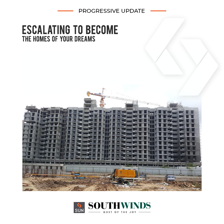 "Sun South winds designed to being the abodes that bring you the ""gust of joy""!  #SunSouthWinds #SunBuildersGroup #SunBuilders #RealEstate #Ahmedabad #RealEstateGujarat #Gujarat"