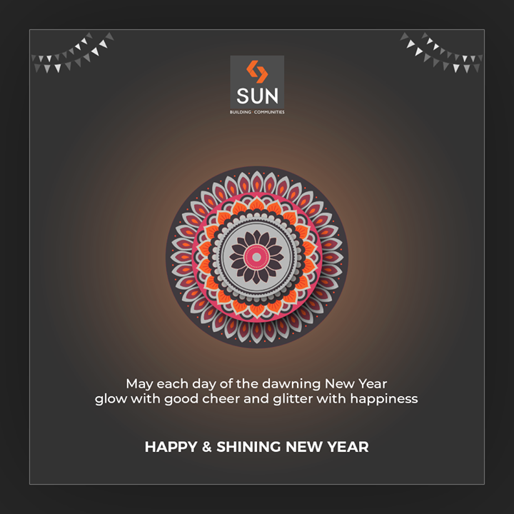 May each day of the dawning New Year glow with good cheer and glitter with happiness.  #NewYear #HappyNewYear #SaalMubarak #IndianFestivals #Celebration #Diwali2019 #Diwali #FestivalOfLight #FestivalOfJoy #FestiveSeason #SunBuildersGroup #Ahmedabad #Gujarat