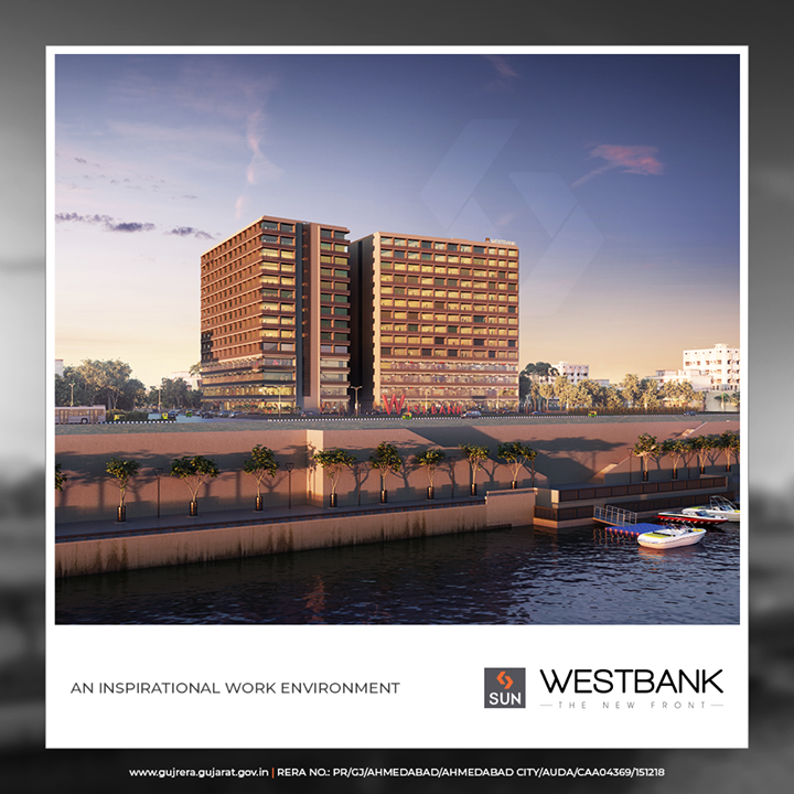 With creative design, smart planning & picturesque view West Bank successfully deliver an 'inspirational work environment  #SunWestBank #SunBuildersGroup #Ahmedabad #Gujarat #RealEstate #SunBuilders