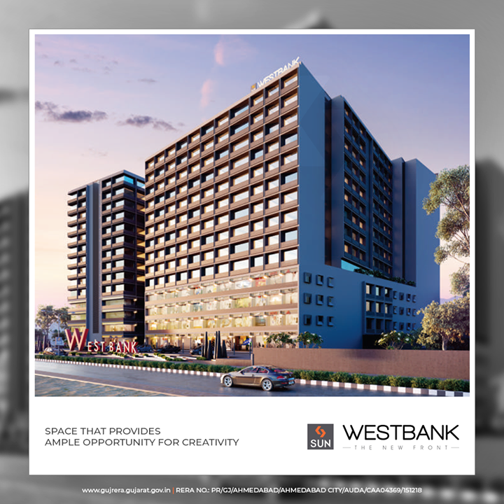 #SunWestBank, space that provides ample opportunity for creativity  #SunBuildersGroup #Ahmedabad #Gujarat #RealEstate #SunBuilders