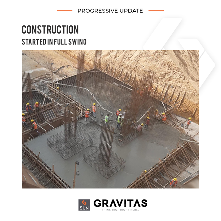 Construction started in full swing!  #SunGravitas #SunBuildersGroup #Ahmedabad #Gujarat #RealEstate