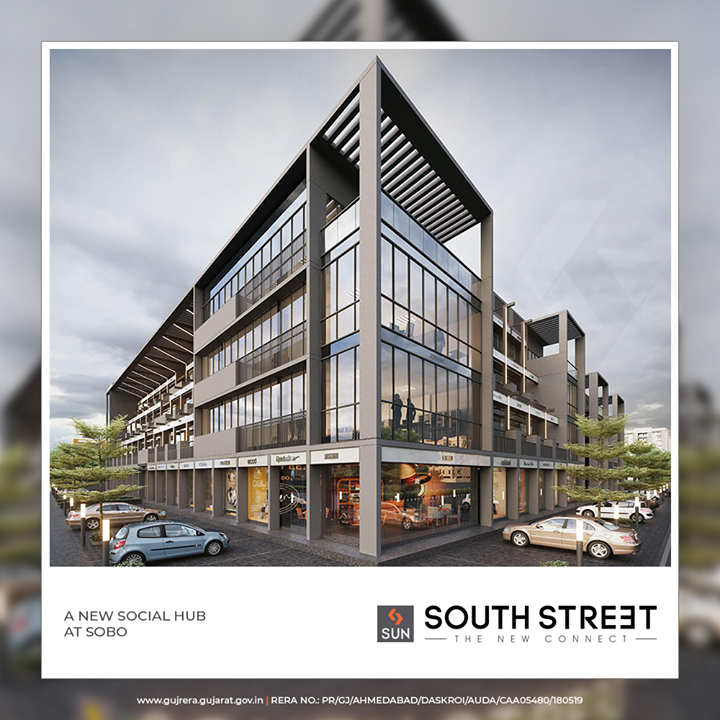 SOUTH STREET is poised to become a new Social Hub that meets all daily consumable and social needs.  #SunSouthStreet #SunBuildersGroup #Ahmedabad #Gujarat #Residences #ResidentialSpaces