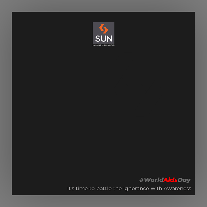 Sun Builders,  WorldAIDSDay, AIDSDay, AIDSDay2019, WorldAIDSDay2019, SunBuildersGroup, Ahmedabad, Gujarat, RealEstate, SunBuilders