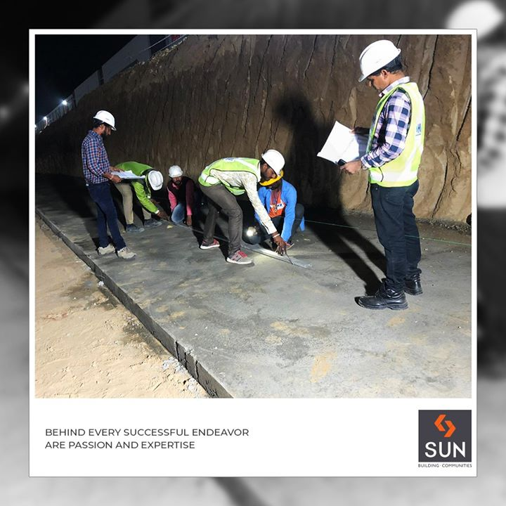 With enough ambition, hope, and patience, we can conquer the world.  #ConstructionSite #TeamWork #SunBuildersGroup #Ahmedabad #Gujarat #RealEstate