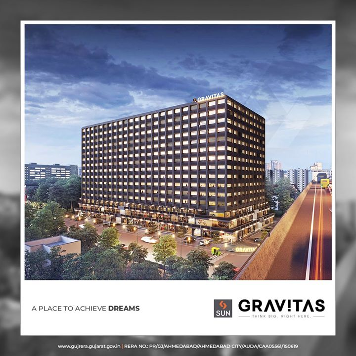 A mix of flexible office spaces and retail experiences  #SunGravitas #officespaces #retails #SunBuildersGroup #Ahmedabad #Gujarat #RealEstate